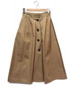 STUNNING LURE(スタニングルアー)の古着「フロントボタンスカート」|ブラウン