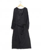 SOULEIADO(ソレイアード)の古着「ブラウスワンピース」|ブラック
