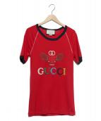 GUCCI(グッチ)の古着「テニス刺繍Tシャツ」|レッド