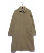 Burberrys(バーバリーズ)の古着「アンゴラ混ステンカラーコート」 キャメル