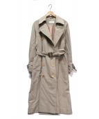 Calvin Klein(カルバン・クライン)の古着「ロングトレンチコート」|ベージュ
