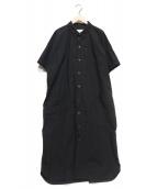UNIVERSAL TISSU(ユニバーサルティシュ)の古着「シャツワンピース」|ブラック