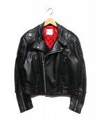 Lewis Leathers(ルイスレザーズ)の古着「MONZAダブルライダースジャケット」|ブラック
