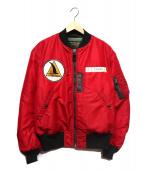 Buzz Ricksons(バズリクソンズ)の古着「ノースロップパッチMA-1ジャケット」|レッド×ブラック