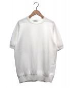 SLOANE(スローン)の古着「S/Sクルーネックニット」|ホワイト