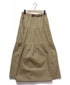 GRAMICCI(グラミチ)の古着「ティアードロングスカート」|ベージュ