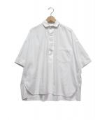 TICCA(ティッカ)の古着「ハーフスリーブスクエアビッグシャツ」|ホワイト