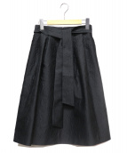 Maglie par ef-de(マーリエパーエフデ)の古着「膝丈スカート」|ブラック