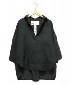 TICCA(ティッカ)の古着「リネンスキッパーブラウス」|オリーブ