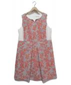 Rose Tiara(ローズティアラ)の古着「ノースリーブワンピース」|ホワイト×オレンジ