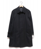 LESLIEGRANT(レスリーグラント)の古着「カシミヤステンカラーコート」|ブラック
