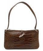 LONGCHAMP(ロンシャン)の古着「型押しワンショルダーバッグ」|ブラウン