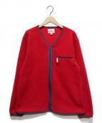 Battenwear(バテンウェア)の古着「Lodge Cardigan」 レッド