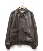 L.L.Bean(エルエルビーン)の古着「A-2レザーフライトジャケット」|ブラウン
