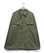 USMC(ユーエスエムシー)の古着「ヘリンボーンツイルミリタリージャケット」|オリーブ