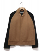 N4(エヌフォー)の古着「N4 MELTON AWARD JACKET」 ブラック×ブラウン