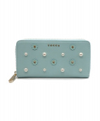 TOCCA(トッカ)の古着「PEARL ZIP AROUND WALLET」|ライトブルー