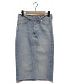 Deuxieme Classe(ドゥーズィエムクラス)の古着「ダメージデニムタイトスカート」 ライトインディゴ