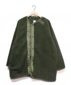 Sunny Sports(サニースポーツ)の古着「ボアパイルライナージャケット」 オリーブ