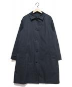 MHL(エムエイチエル)の古着「ダウンライナー付ステンカラーコート」 ネイビー