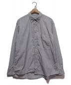 UNIVERSAL PRODUCTS.(ユニバーサルプロダクツ)の古着「ストライプボタンダウンシャツ」 グレー×ブルー