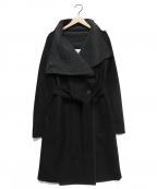 HARRIS WHARF LONDON(ハリスワーフロンドン)の古着「ベルテッドコート」|ブラック×グレー