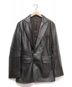 DKNY(ダナキャランニューヨーク)の古着「2Bレザージャケット」|ダークブラウン