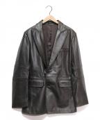 DKNY(ダナキャランニューヨーク)の古着「2Bレザージャケット」 ダークブラウン