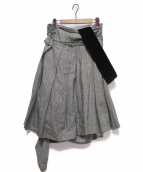 COMME des GARCONS(コムデギャルソン)の古着「ワンショルダージャンパースカート」|ブラック×ホワイト