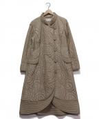 HIROKO KOSHINO(ヒロコ コシノ)の古着「キルティングAラインコート」|ベージュ