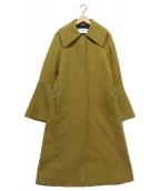 IRENE(アイレネ)の古着「Bordeaux wool oversized coat」|マスタード