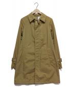 ORCIVAL(オーチバル)の古着「ナイロンタフタステンカラーコート」|ベージュ