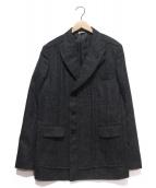 COMME des GARCONS HOMME DEUX(コムデギャルソン オム ドゥ)の古着「ウールダブルブレストジャケット」|グレー