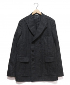 COMME des GARCONS HOMME DEUX()の古着「ウールダブルブレストジャケット」|グレー