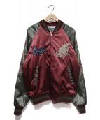 Hoshihime(ホシヒメ)の古着「スカジャン」|ボルドー×グレー