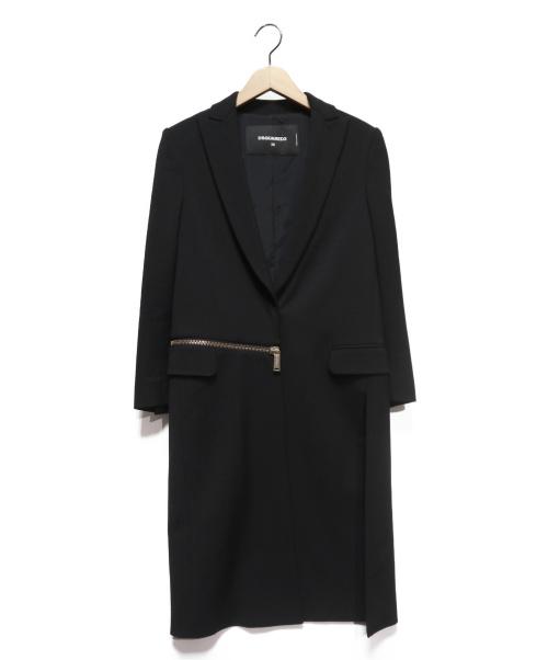 DSQUARED2(ディースクエアード)DSQUARED2 (ディースクエアード) Zipped waist coat ブラック サイズ:36の古着・服飾アイテム