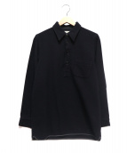 BUTCHER PRODUCTS(ブッチャープロダクツ)の古着「WOOL CPO PULLOVER」|ブラック