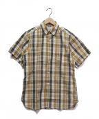 BUTCHER PRODUCTS(ブッチャープロダクツ)の古着「S/Sマドラスチェックシャツ」|ブラウン×アイボリー