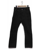 FULLCOUNT(フルカウント)の古着「1110 BLACK TAPERD JEANS」|ブラック