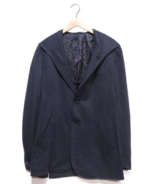 CARUSO(カルーゾ)CARUSO (カルーゾ) フード付2Bジャケット ネイビー サイズ:52の古着・服飾アイテム