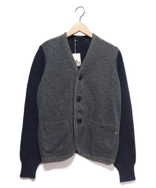45R(フォーティファイブアール)45R (フォーティファイブアール) デニム裏毛カーディガン インディゴ サイズ:3 参考定価50.000円+税の古着・服飾アイテム