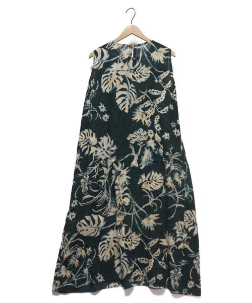 45R(フォーティファイブアール)45R (フォーティファイブアール) ノースリーブワンピース グリーン サイズ:3の古着・服飾アイテム