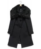 EPOCA(エポカ)の古着「アルパカファー付アンゴラ混コート」|ブラック