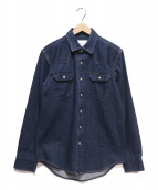 Calvin Klein Jeans(カルバンクラインジーンズ)の古着「デニムウエスタンシャツ」|インディゴ
