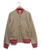 Calvin Klein Jeans(カルバンクラインジーンズ)の古着「アワードジャケット」|カーキ×レッド