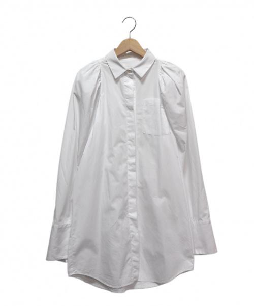 LUTZ HUELLE(ルッツヒュエル)LUTZ HUELLE (ルッツヒュエル) OVERSLEEVESHIRT ホワイト サイズ:34の古着・服飾アイテム