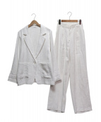 I-SOOK(アイスー)の古着「リネンセットアップ」|ホワイト