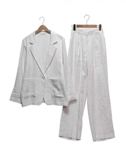 I-SOOK(アイスー)I-SOOK (アイスー) リネンセットアップ ホワイト サイズ:FREEの古着・服飾アイテム