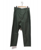 SOFIE DHOORE(ソフィードール)の古着「2タックパンツ」|グリーン
