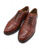 Lloyd Footwear(ロイドフットウェア)の古着「セミブローグシューズ」 ブラウン